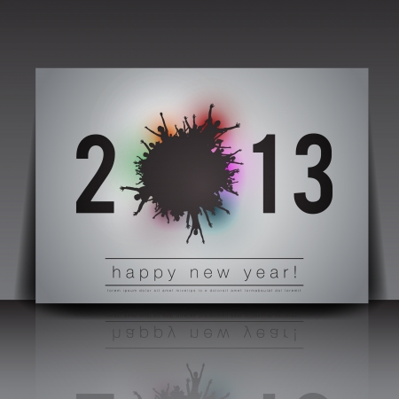 2013 New Year Flyer Template  Vector