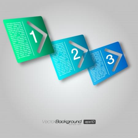 2 3: 3D Next Step Arrow Boxes