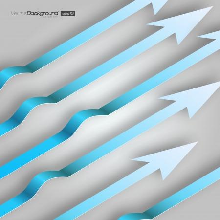3D Blue Arrows background Stock Vector - 15775664
