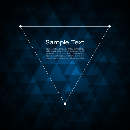 light and dark: Abstract triangle background for Your Text
