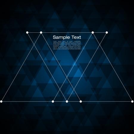삼각형: 귀하의 텍스트에 대 한 추상 삼각형 배경 일러스트