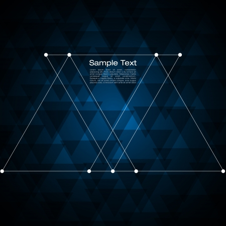 forme: Résumé de fond triangle pour votre texte Illustration
