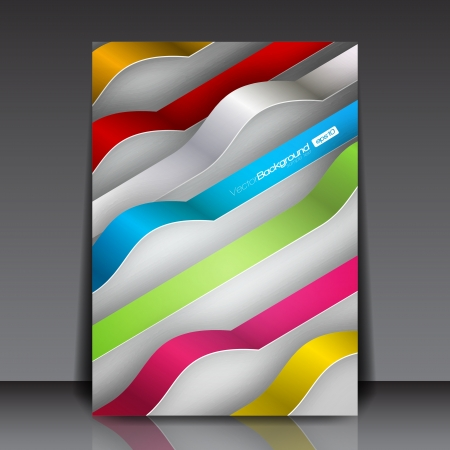 business flyer: Colorful 3D Lines - Business Flyer Template Illustration