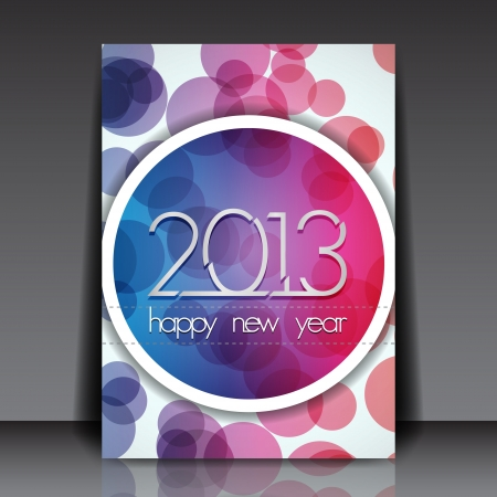 2013 New Year  Editable Flyer Template Vector