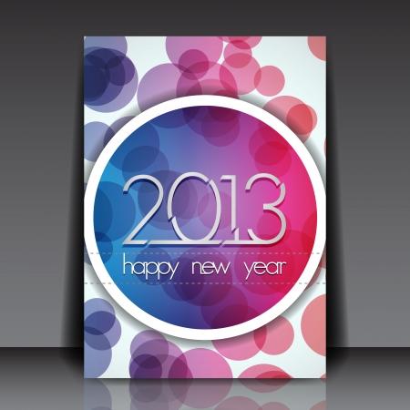 2013 New Year  Editable Flyer Template Stock Vector - 15883972