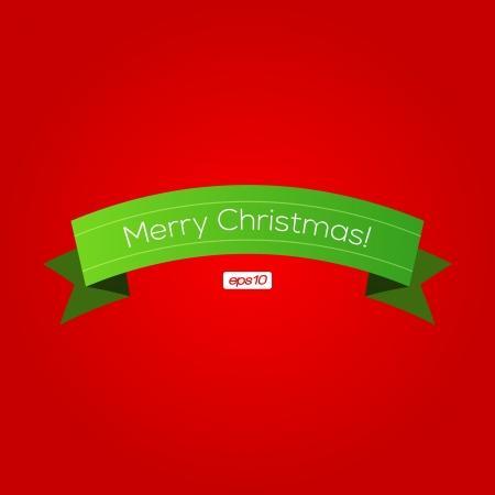 Christmas Ribbon |  Design Vector