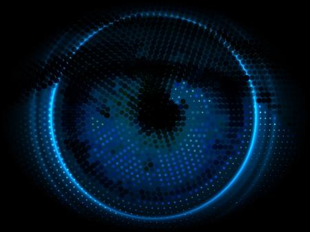 sensores: Dirigido ojo vector dise�o de fondo de alta tecnolog�a