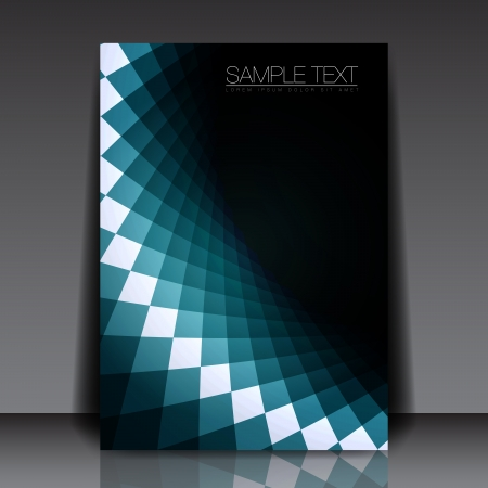 simple geometry: Blue Shape Flyer Template Design