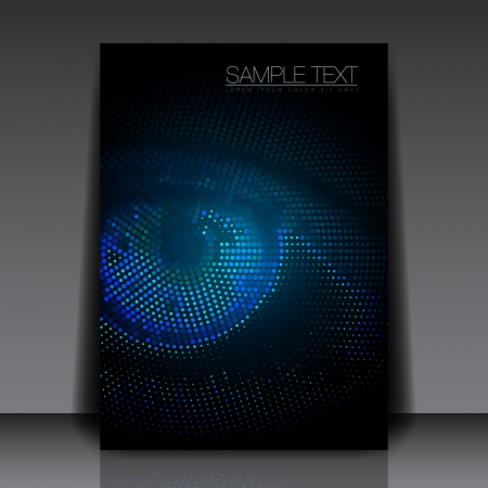 sensors: Realistic Eye Flyer Template Vector Design
