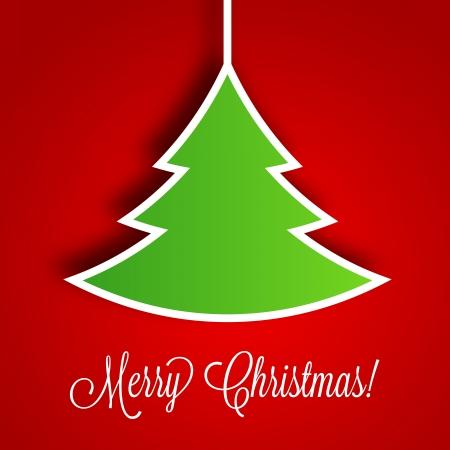 christmas template: Albero di Natale Vector Background