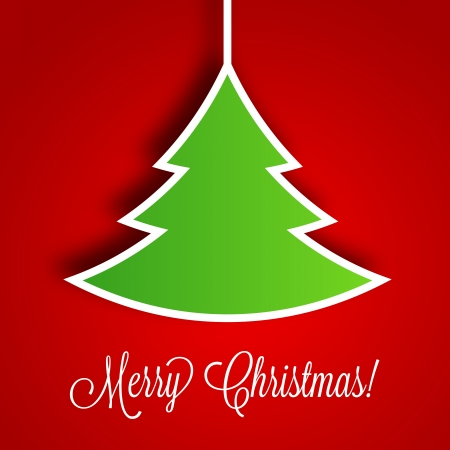 merry christmas banner: Christmas Tree Vector Background