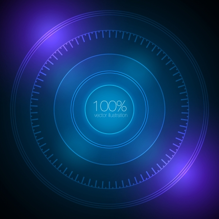 Futuristic Interface Design Vector