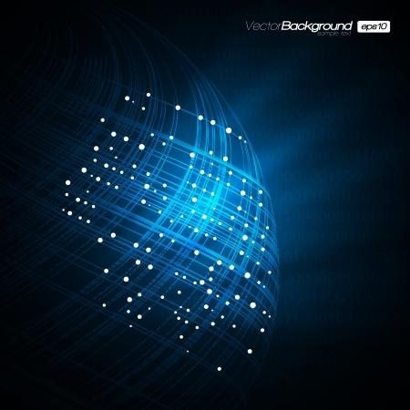 сеть: Синий сети Современные