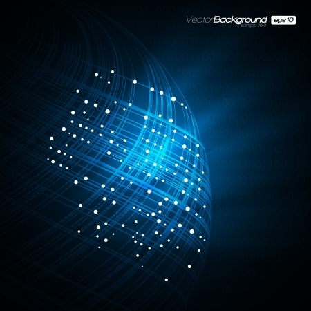 Blue Network Modern Illustration