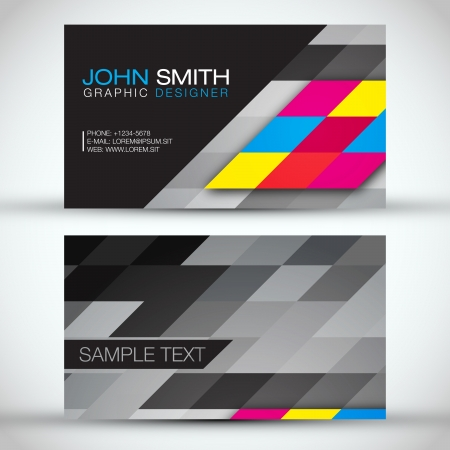 Abstract Mosaic Business Card Vector