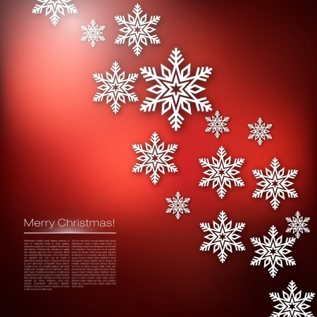 Merry Christmas Snowflakes Design Stock Vector - 17053101