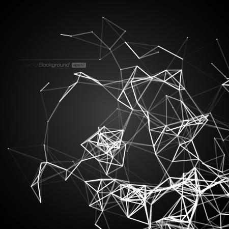 poligonos: Blanco y Negro L�neas Fondo Moderno Ilustraciones Vectoriales