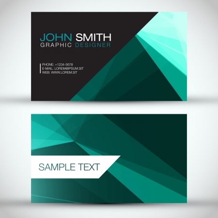 Green Modern Business-Card Set   EPS10 Vector Design Vector