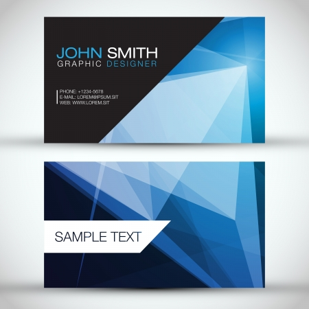 Blue Modern Business-Card Set   EPS10 Vector Design Vector