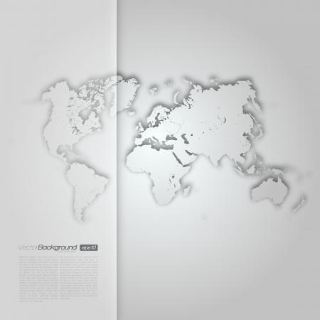 wall maps: Vector mundo de la ilustraci�n 3d - eps10 dise�o