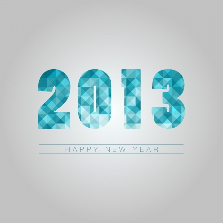 New 2013 Year Greeting Card Made In Mosaic Style   EPS10 Vector Illustration Vector