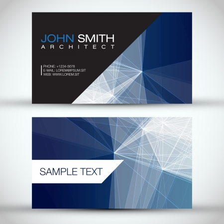 Blue Modern Abstract Business - Card Set   EPS10 Vector Design Vector