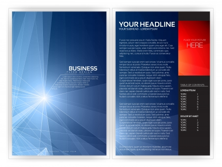 magazines: Abstract Geometric Brochure Layout   EPS10 Editable Design