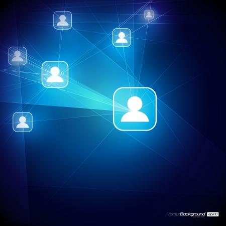 Social Media Abstract Illustration   Communication in the Global Computer Networks   EPS10 Vector Design Stock Vector - 17192013
