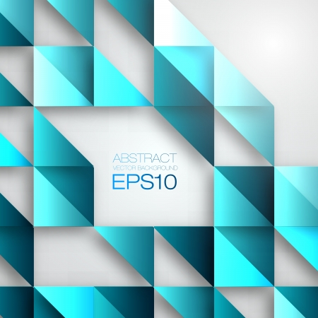 Blue Mosaic Vector Background   EPS10 Illustration Vector
