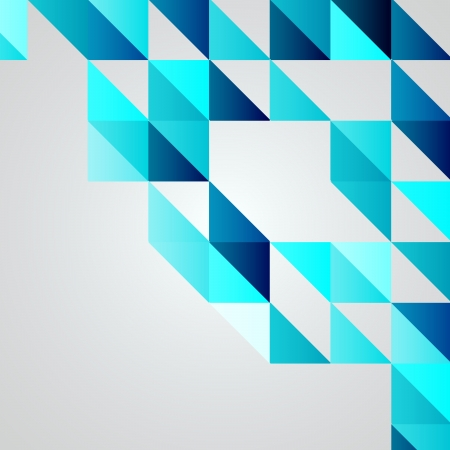 geometric pattern: Blue Mosaic Vector Background   EPS10 Illustration