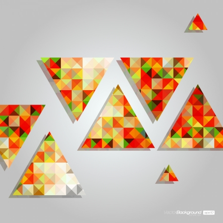 Mosaic Triangles Abstract Vector Background   EPS10 Design