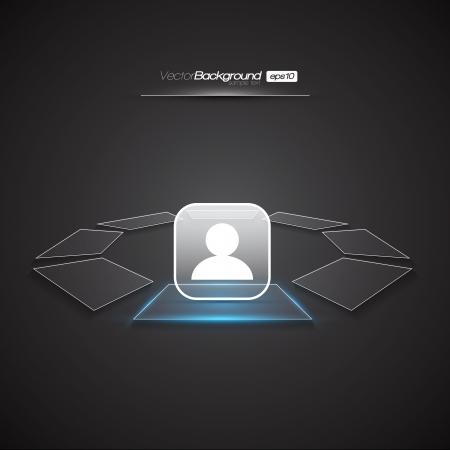 users: Modern Interface Design Login Screen   EPS10 Editable Vector Illustration