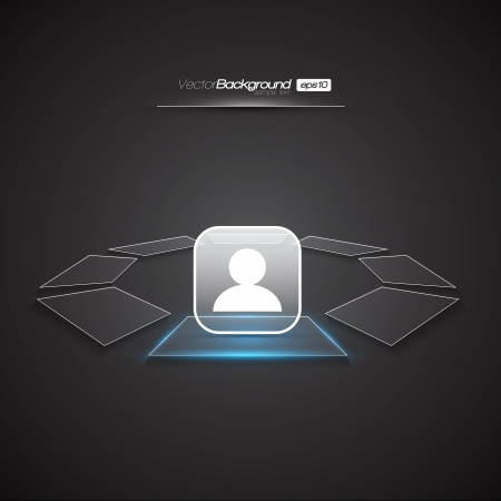 Modern Interface Design Login Screen   EPS10 Editable Vector Illustration