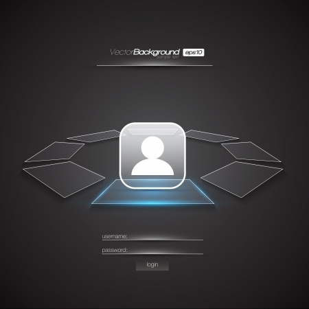 Modern Interface Design Login Screen   EPS10 Editable Vector Illustration Stock Vector - 18098205