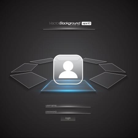 Modern Interface Design Login Screen   EPS10 Editable Vector Illustration Stock Vector - 18098205