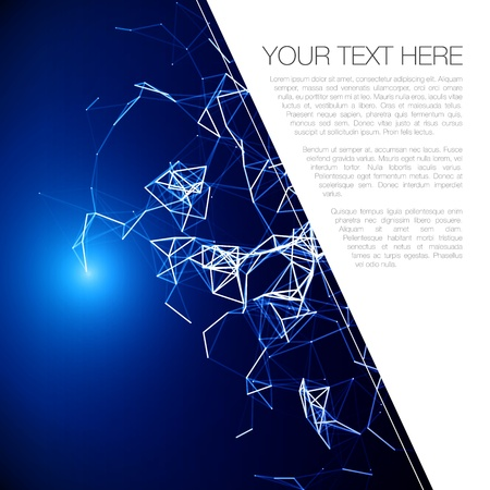 Futuristic Abstract Blue Modern Lines Background   Vector Illustration Vector