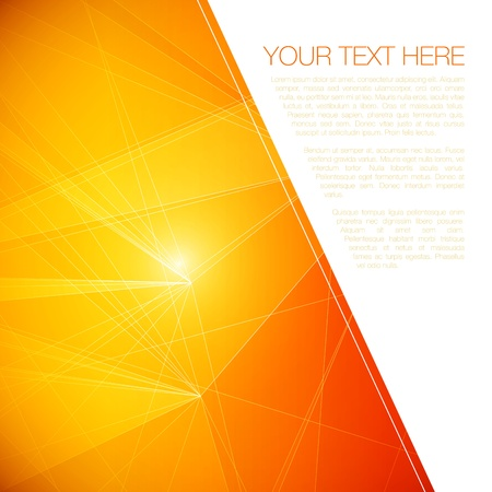 Abstract Geometric Background for Your Text   EPS10 Illustration Stock Vector - 18098159