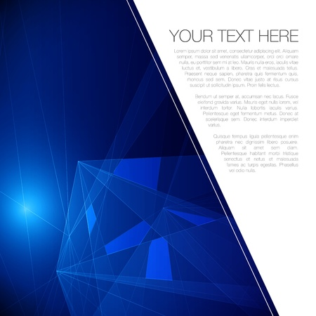 Abstract Geometric Background for Your Text   EPS10 Illustration Vector