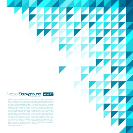 Blue Mosaic Vector Background   EPS10 Illustration