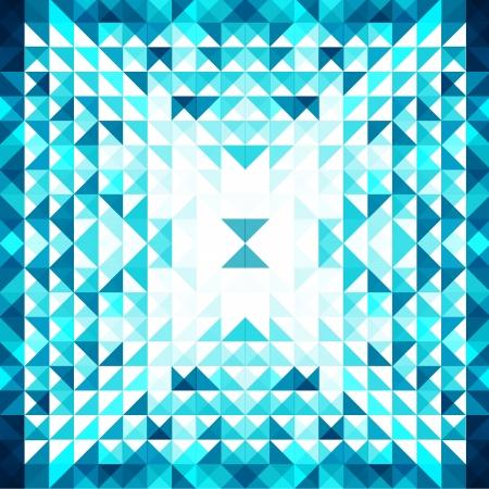 Blue Mosaic Vector Background   EPS10 Illustration Stock Vector - 18098165
