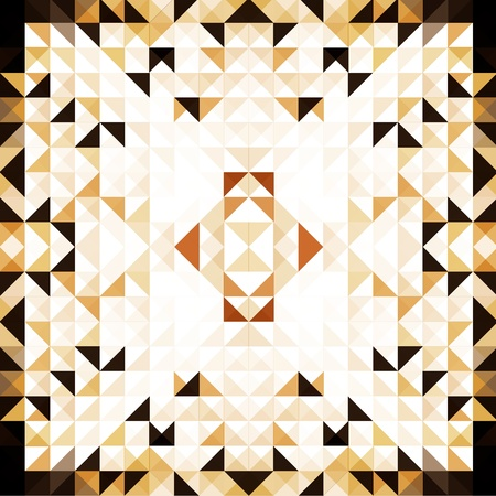 Brown Mosaic Vector Background   EPS10 Illustration Stock Vector - 18098166