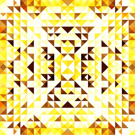Yellow Mosaic Vector Background   EPS10 Illustration Stock Vector - 18098177