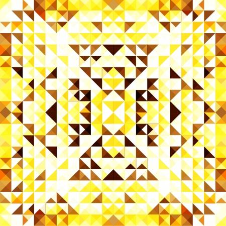 Yellow Mosaic Vector Background   EPS10 Illustration Stock Vector - 18098177