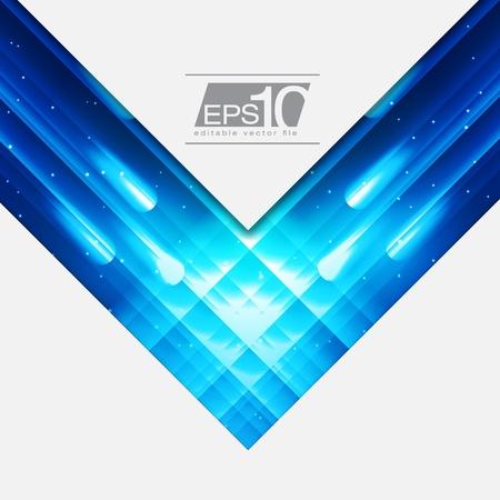 fibra ottica: Blue Space disegno astratto per il vostro testo EPS10 Sfondo