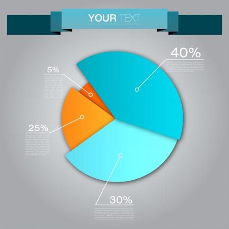 Kleurrijke Zakelijke Cirkeldiagram voor uw documenten, rapporten en presentaties