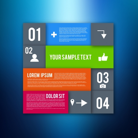 Modern Design Layout   Infographic Elements   EPS10 Vector Template Stock Vector - 18082113