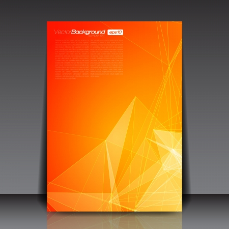 Orange Abstract Lines Flyer Template Vector