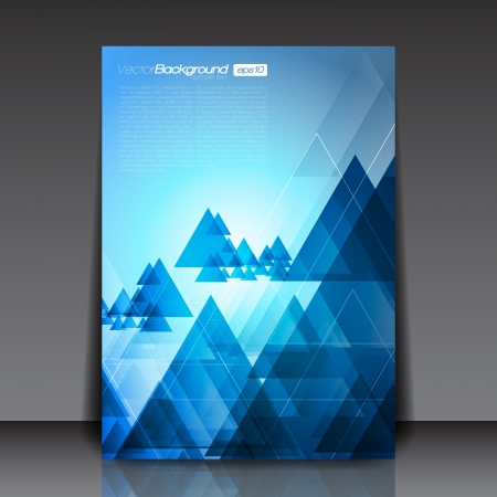 Blue Abstract Triangles Flyer Template Stock Vector - 18264082