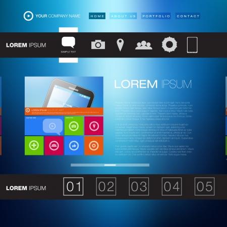 Modern Website Template   Creative Media Design  Stock Vector - 18264080