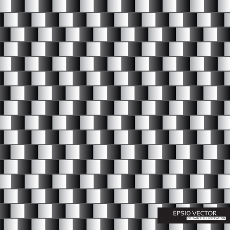 Optical illusion - parallel lines made from black and white pillows   EPS10 Vector Illustration Vector